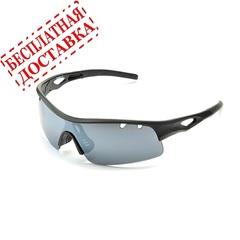 Очки солнцезащитные 2K S-14012-C (чёрный матовый / дымчатые зеркальные)