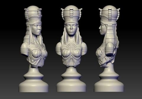 Силиконовый молд  Шахматная фигура   ( дополнительная )   1 шт