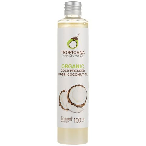 Кокосовое масло TROPICANA Organic cold pressed virgin coconut oil,  100 мл.