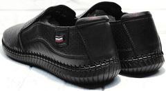 Летние туфли мужские кожаные мокасины стрит кэжуал Ridge Z-291-80 All Black.