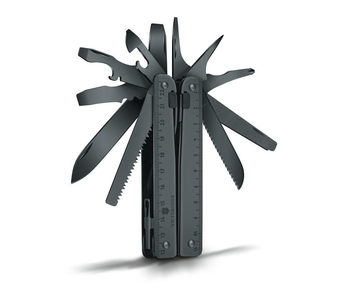 Чёрный мультитул Victorinox SwissTool BS (3.0323.3CN) 115 мм. в сложенном виде, нейлоновый чехол - Wenger-Victorinox.Ru