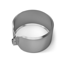 Хомут обжимной TMF ф300, 0,5мм, нерж