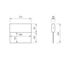 Эвакуационный световой указатель выхода TWINS LED – вид спереди