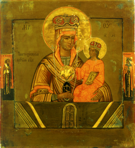 Икона Божией Матери Ченстоховская на дереве на левкасе мастерская Иконный Дом