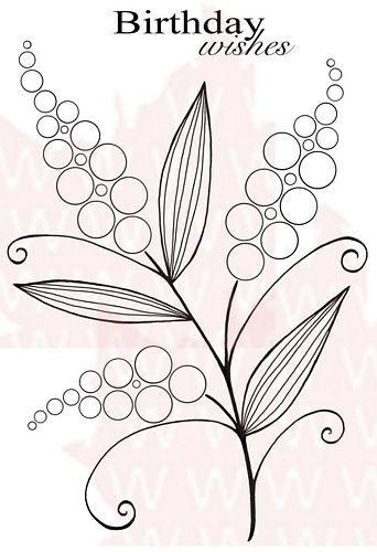 Набор штампов- Цветы