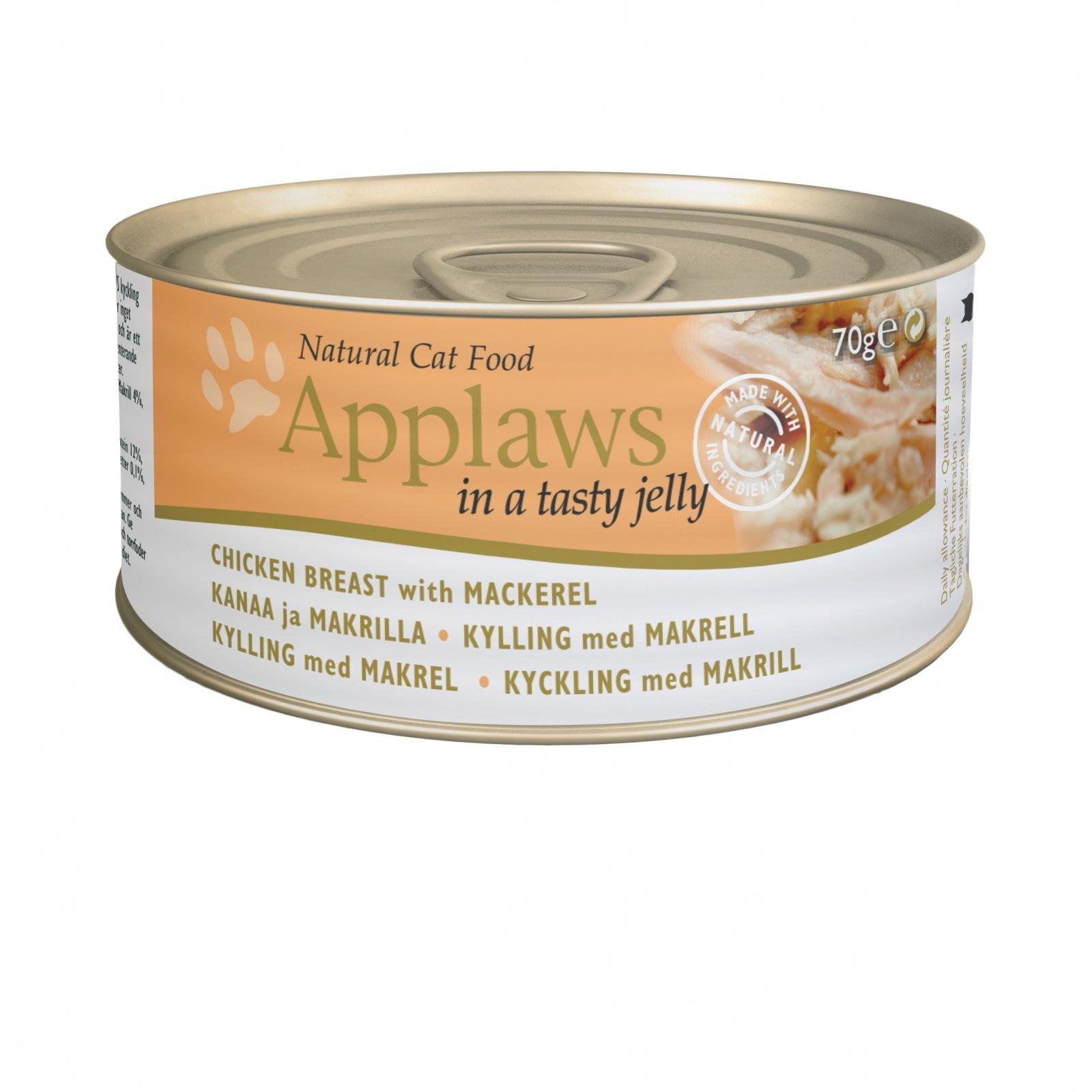 купить Аплаус Applaws Cat Jelly Chicken & Mackerel консервы для взрослых кошек, курица и скумбрия