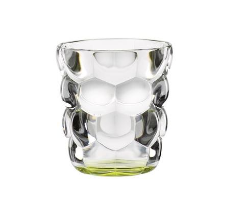 Набор из 2 стаканов для воды с зеленым донышком Bubbles, 330 мл