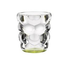 Набор из 2 стаканов для воды с зеленым донышком Bubbles, 330 мл, фото 1