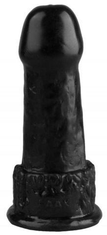 Черная фантазийная анальная втулка - 15 см.
