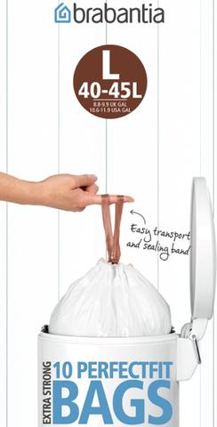 Пакет пластиковый 45л 10шт, артикул 371547, производитель - Brabantia