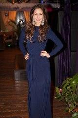 Платье F77-01 длинное масло синее
