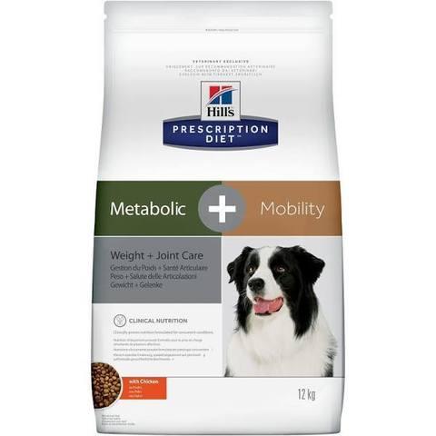 Hill's Prescription Diet Metabolic + Mobility при заболевании суставов, с Курицей, 12 кг