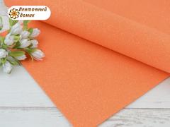 Фоамиран с блестками морковный с отливом 2 мм