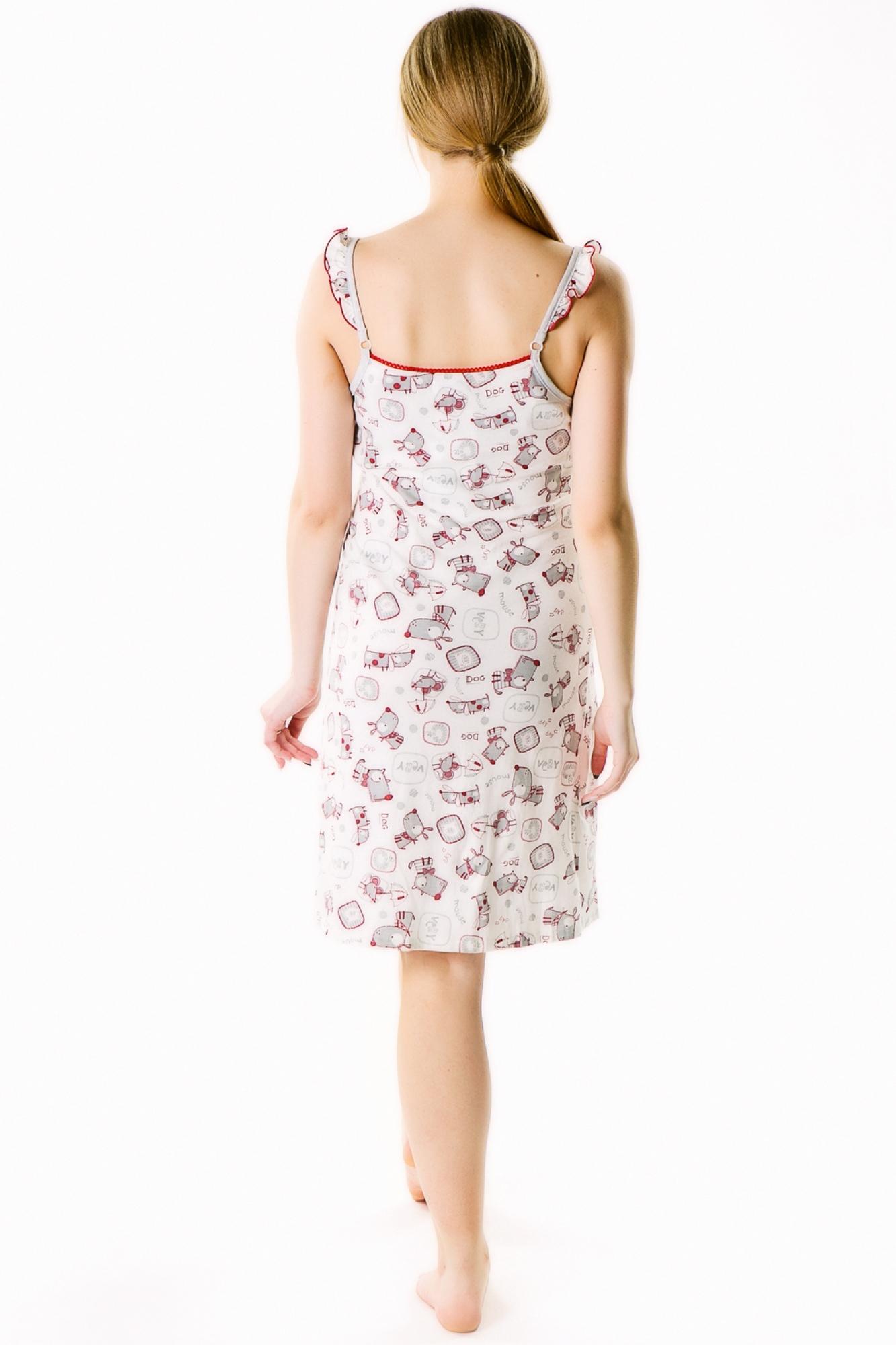 Ночная сорочка для беременных и кормящих 09325 белый