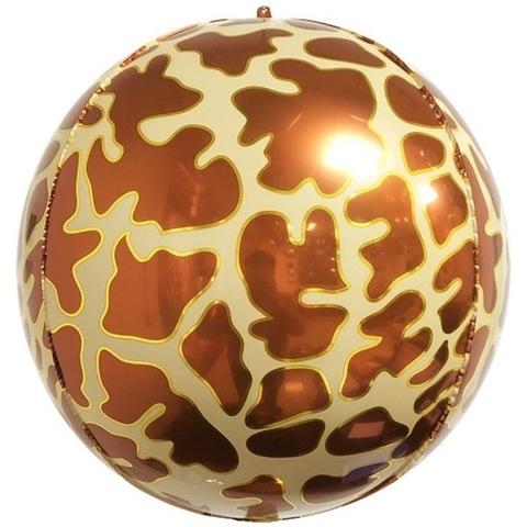 Сфера 3D, пятна жирафа, 51 см