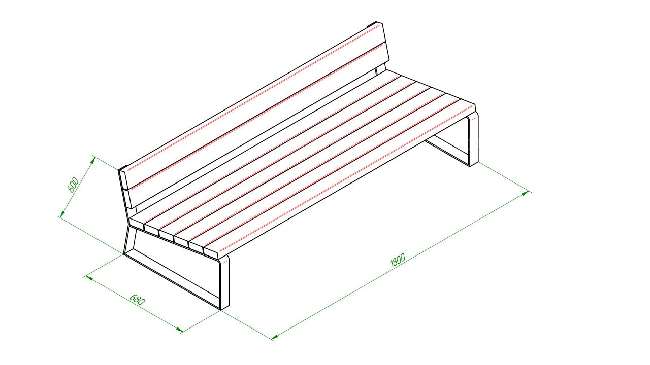 Скамейка диван SCAM0056