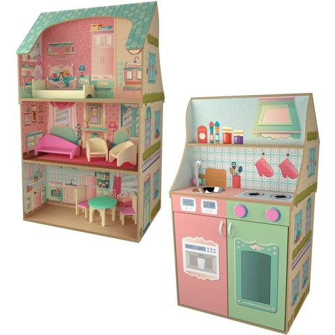 DreamToys Полина - кукольный домик-кухня с мебелью P202004