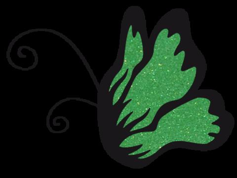 Эль Коразон Глиттеры 24 травянисто-зелёный