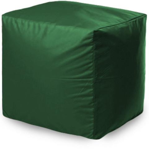 Пуффбери Внешний чехол Пуфик квадратный  40x40x40, Оксфорд Зеленый