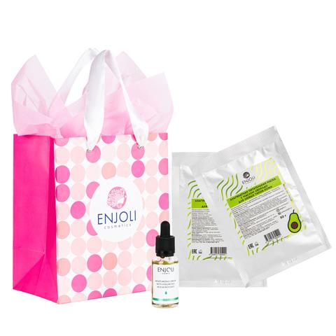 """Подарочный набор ENJOLI """"Сила увлажнения"""" с гиалуроновой кислотой и авокадо для сухой и уставшей кожи лица."""