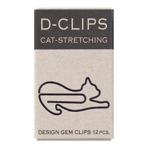 Скрепки Midori D-Clips Cat-Stretching (12 шт.)