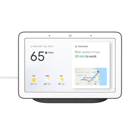 Домашний помощник Google Home Hub Charcoal (темно-серый)