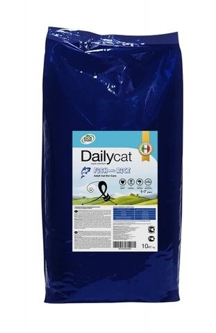 Cухой корм DailyCat Adult Exi Care Fish and Rice для взрослых привередливых кошек с сельдью, лососем и рисом 10 кг