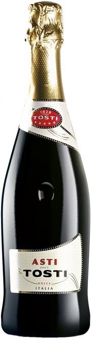 Вино игристое Тости Асти белое сладкое защищ.наимен.места происх.катег.ДОКГ, рег.Пьемонт 0,75л.