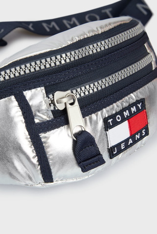 Женская серебристая поясная сумка TJW HERITAGE Tommy Hilfiger