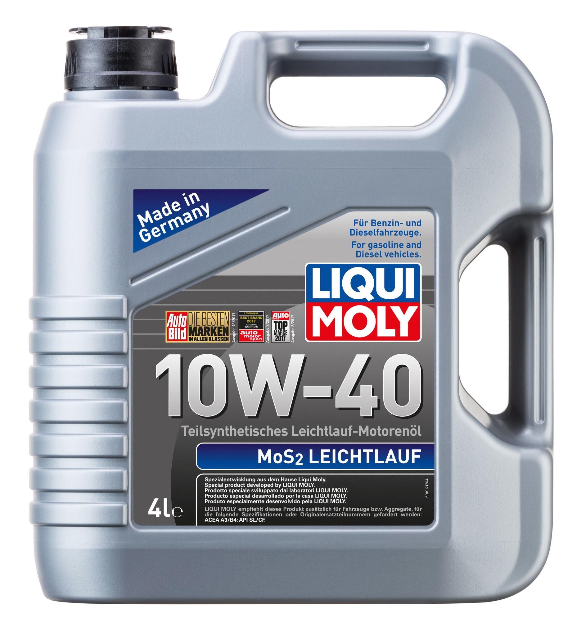Liqui Moly MoS2 Leichtlauf 10W40 Полусинтетическое моторное масло с молибденом