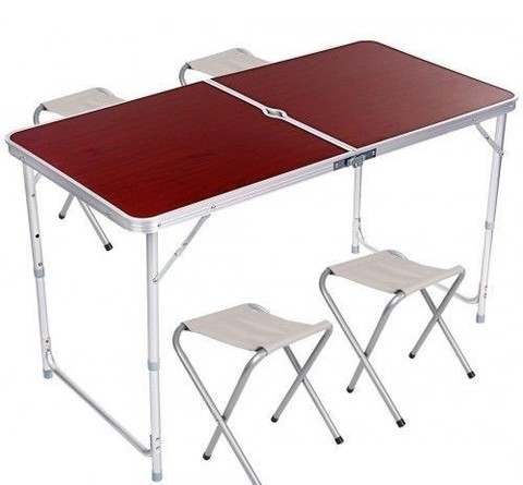 Стол складной и 4 стула Folding Table
