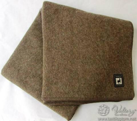 Одеяло шерстяное Оливер коричневый