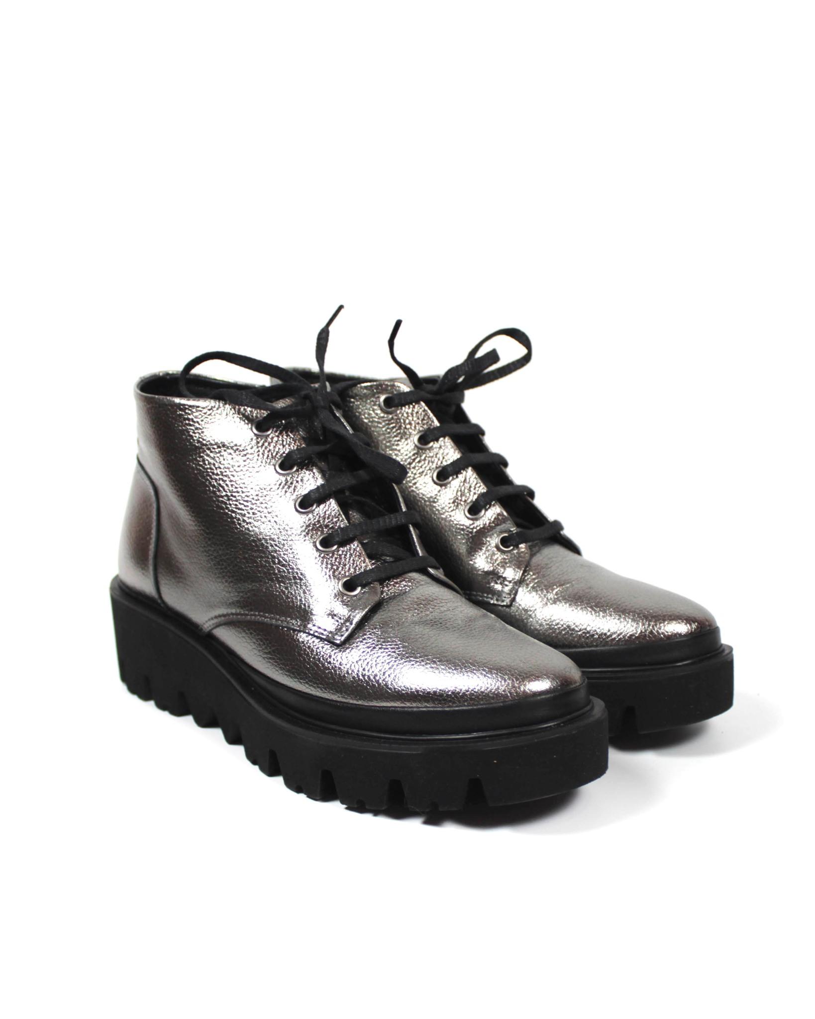 серебристые ботинки Donna Ricco