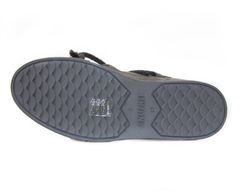 Высокие комбинированные кеды INUIKII 70202-5 Sneaker classic dark grey на меху