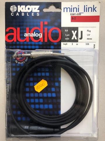 KLOTZ B2MP1-0300 - Микрофонный кабель MY204