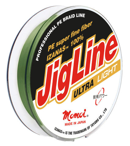 Леска плетеная MOMOI JigLine Ultra Light зелёная 100 м 0,03 мм 1,6 кг