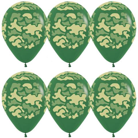 Латексный воздушный шар, камуфляж