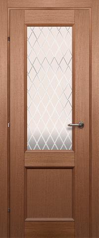 Дверь ДО 3324 (грецкий орех, остекленная CPL), фабрика Краснодеревщик