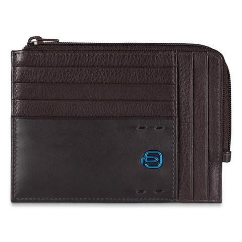 Чехол для кредитных карт Piquadro Pulse, коричневый, 12х9х1 см
