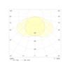 Диаграмма светораспределения для светодиодного светильника аварийного освещения Aestetica LED