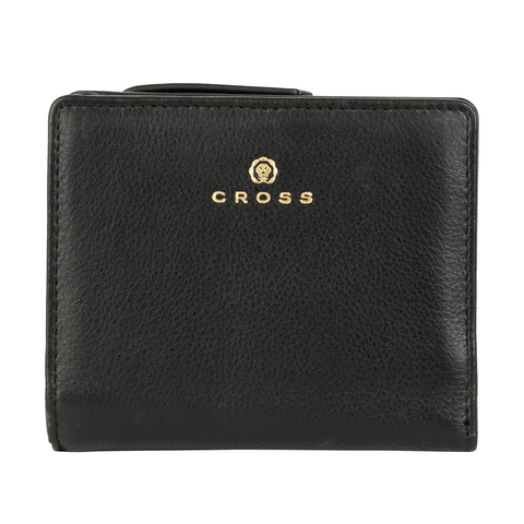 Женский кожаный компактный кошелёк 11х9,5х2см CROSS Monaco Black AC898083_1-1
