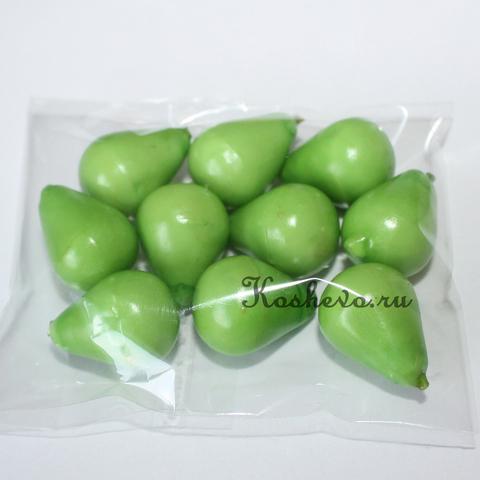 Груша зеленая с коротким хвостиком 10шт