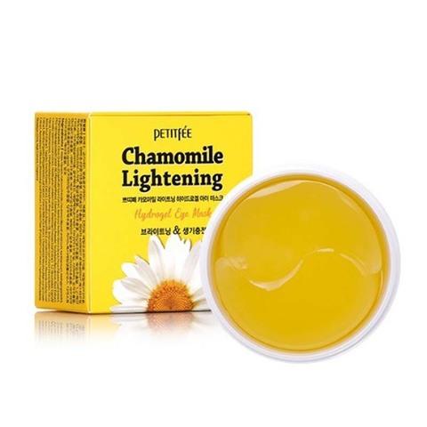 Petitfee Chamomile Lightening Hydrogel Eye Mask патчи против темных кругов с экстрактом ромашки