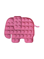 Поп Ит Игрушка антистресс Вечная пупырка Попит 17,7 х 13,3 см розовый слон POP IT