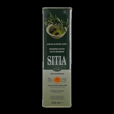 Масло оливковое нерафинированное Extra virgin SITIA P.D.O., 500 мл