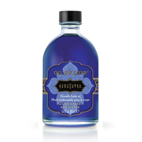 Массажное масло Kama Sutra - аромат засахаренной черники, 100 мл