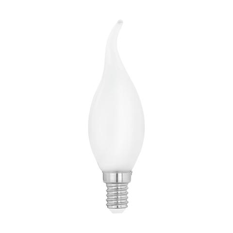 Лампа  LED филаментная из опалового стекла  Eglo MILKY LM-LED-E14 4W 470Lm 2700K CF35 11603