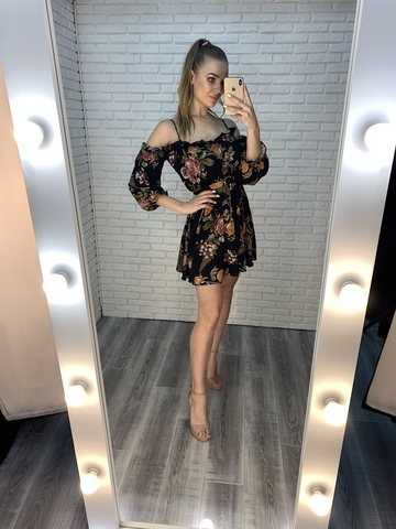 летнее черное платье короткое купить