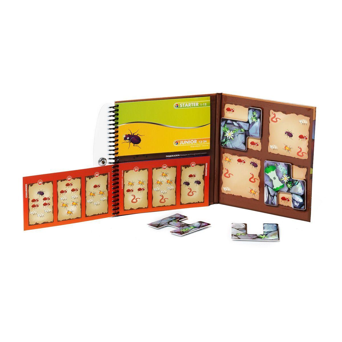 Деловые жуки - магнитная компактная игра для путешествий BONDIBON SMARTGAMES