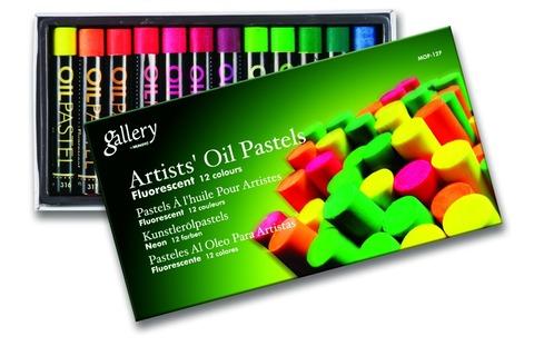 Масляная пастель флуоресцентная набор 12 цветов